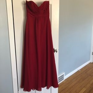 Allure Bridals Strapless Bridesmaid Dress